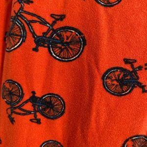 Red Bicycle Lularoe Leggings